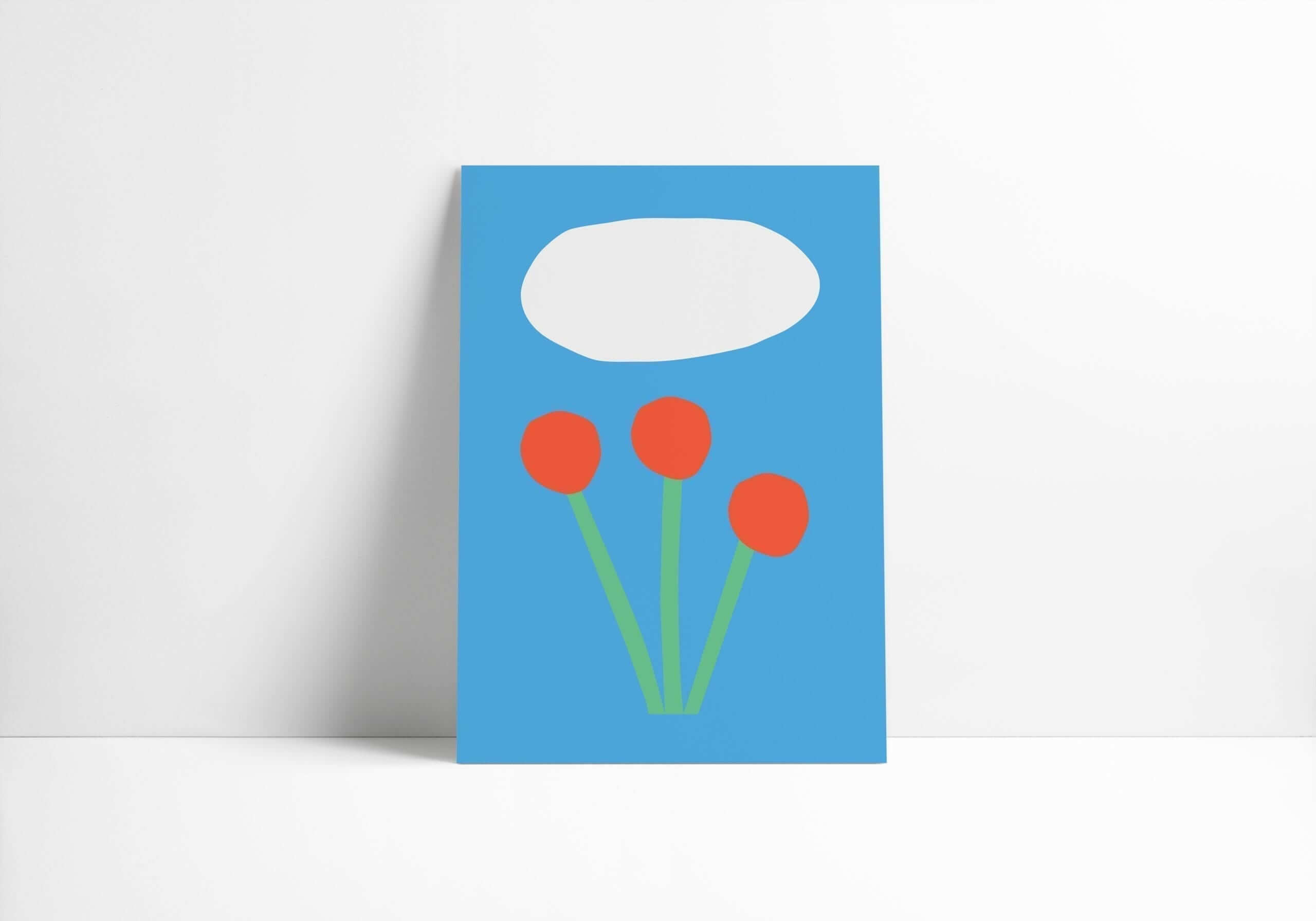 Mamahoela poster flower vertical