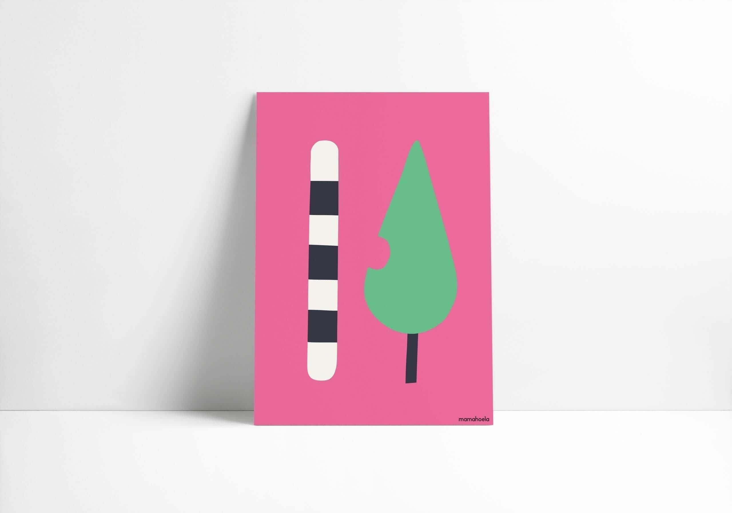 Mamahoela caterpillar poster vertical