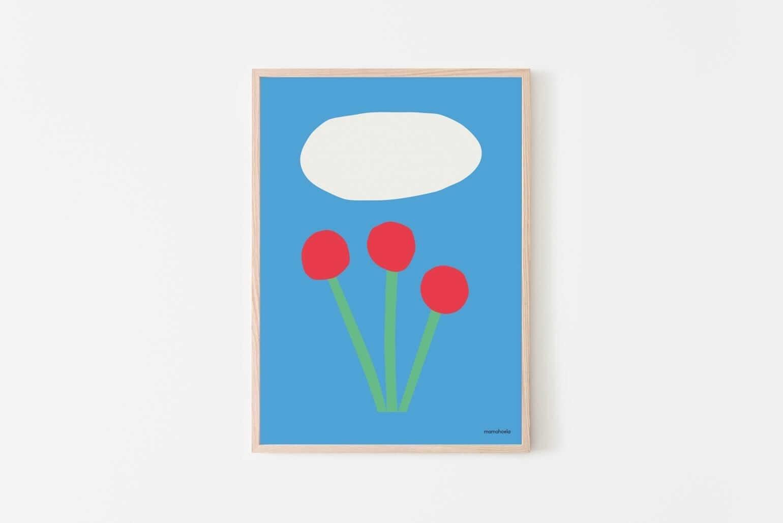 Mamahoela poster flower hanging vertical