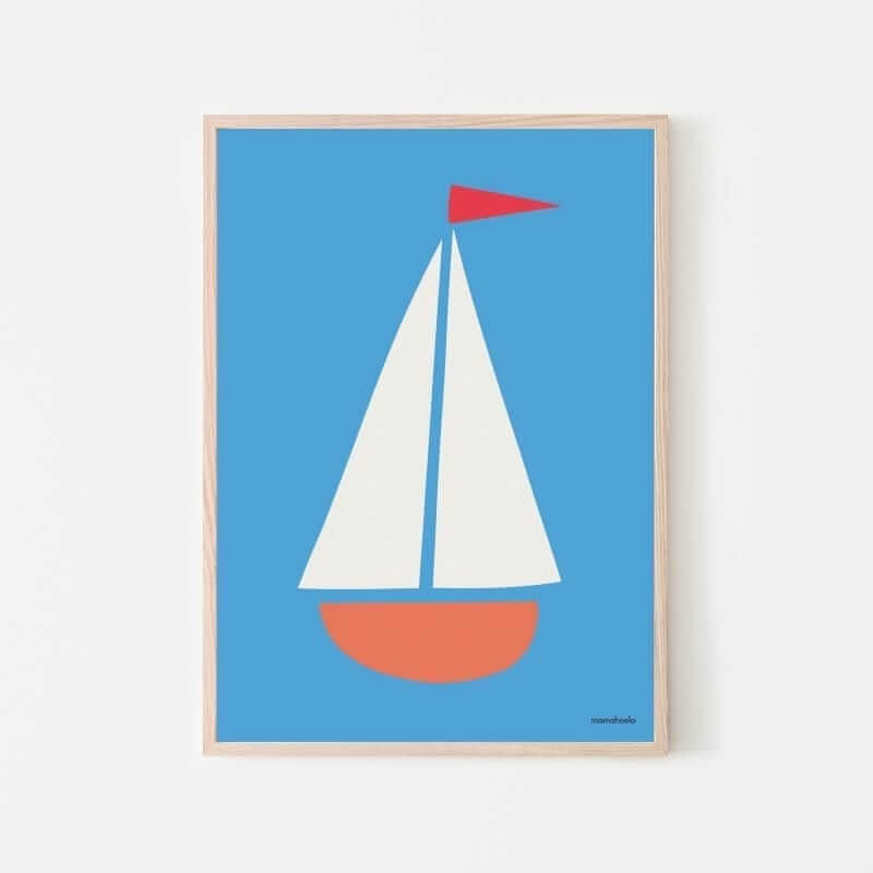 Mamahoela poster boat hanging vertical