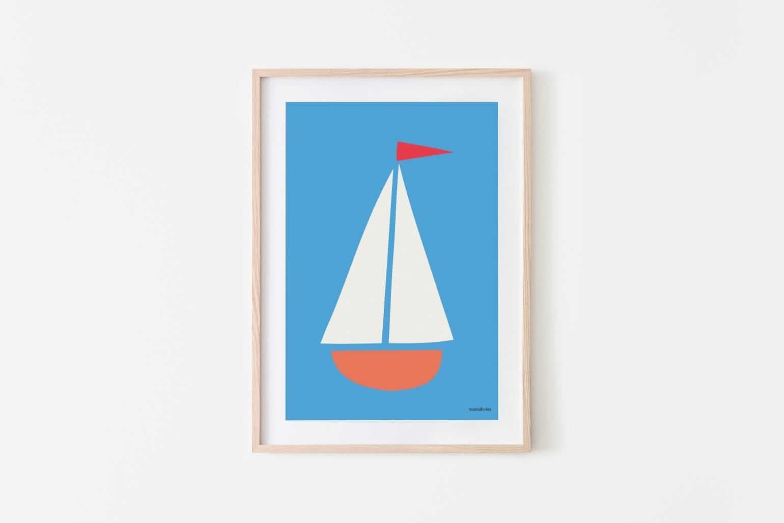 Mamahoela poster boat passepartout vertical