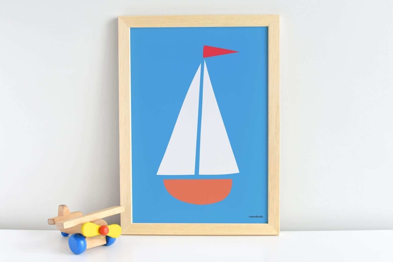 Mamahoela poster boat shelf vertical