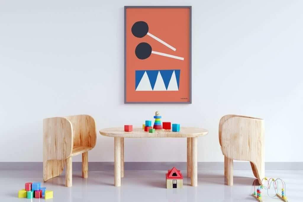 Mamahoela poster Drum room vertical