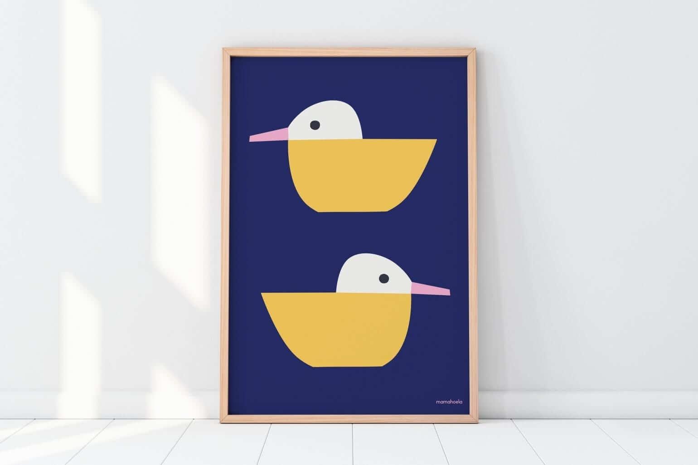 Mamahoela poster duck floor vertical