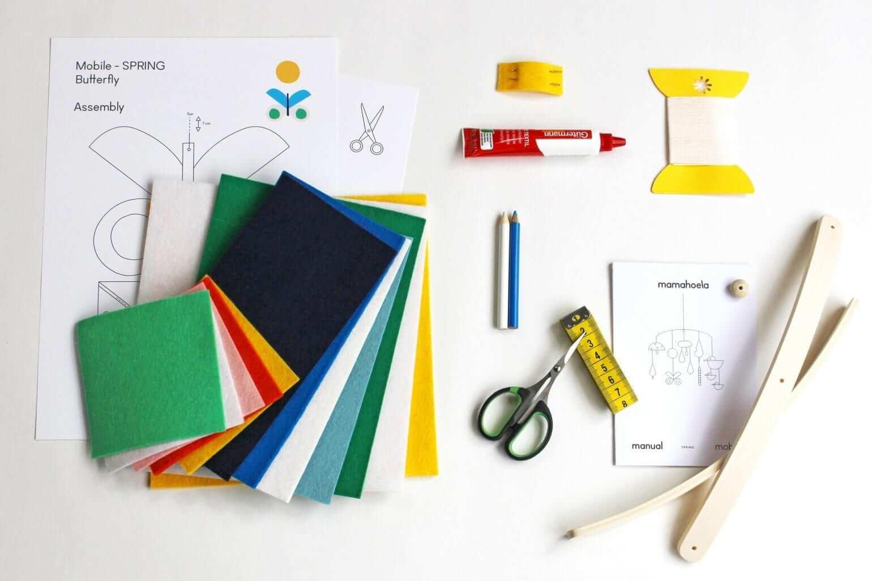 Mobile DIY kit materials Mamahoela