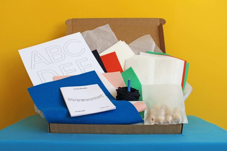 Name garland DIY craft kit box 7