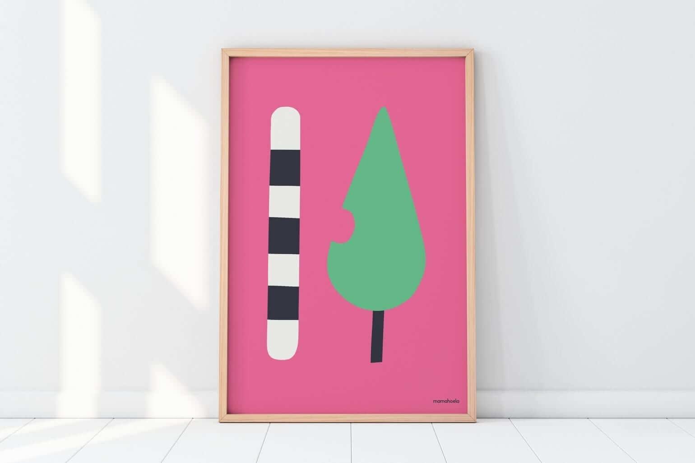 Mamahoela caterpillar poster floor vertical