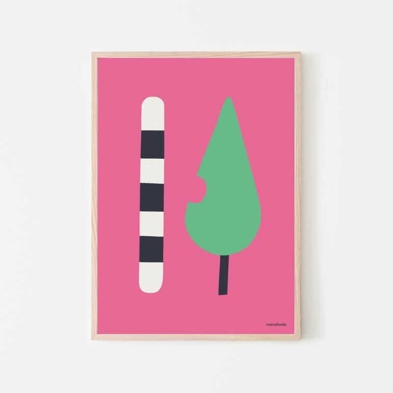Mamahoela caterpillar poster hanging vertilcal