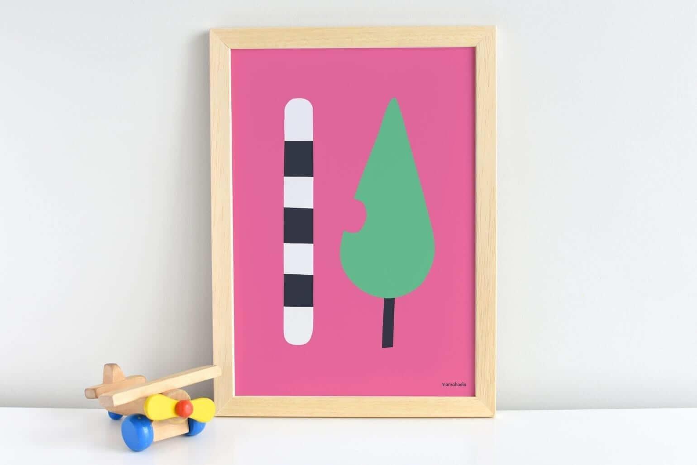 Mamahoela caterpillar poster shelf vertical