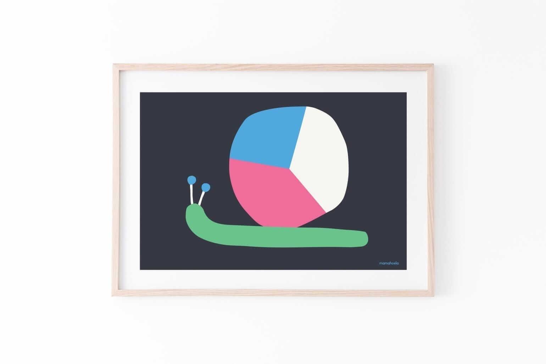 Mamahoela poster snail passepartout horizontal