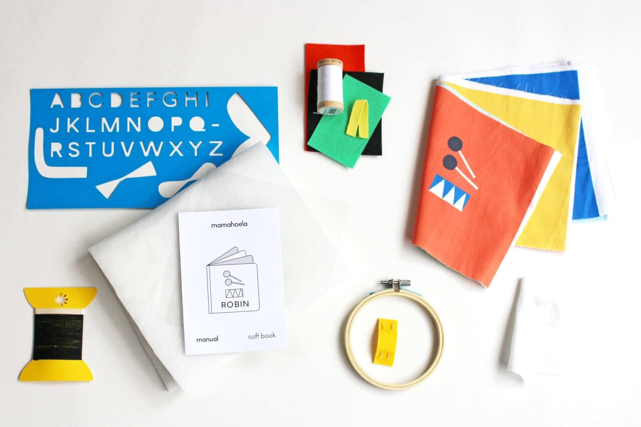 Soft book kit materials Mamahoela