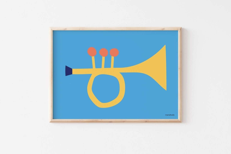 Mamahoela poster Trumpet hanging horizontal
