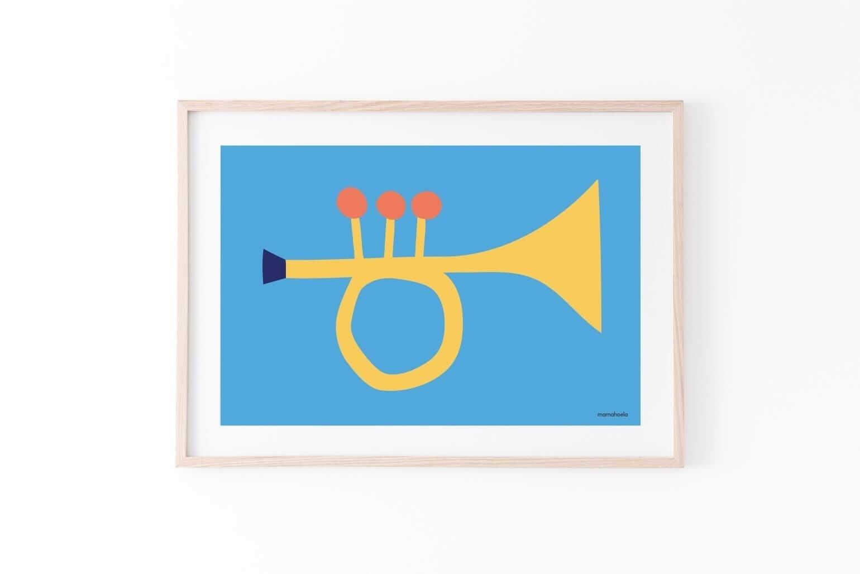 Mamahoela poster Trumpet passepartout horizontal