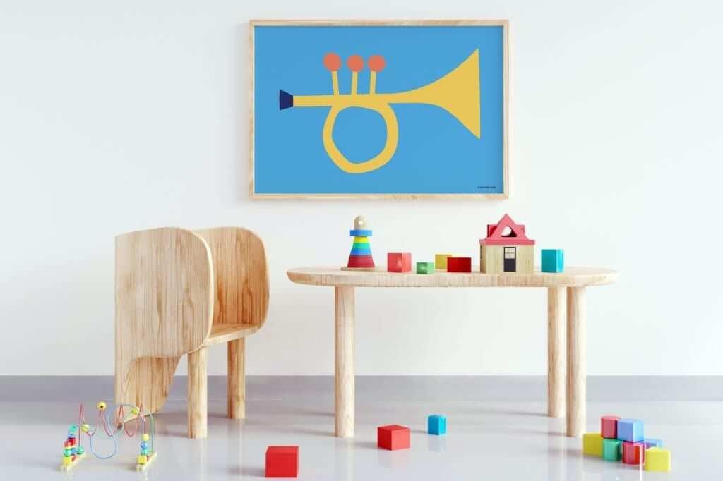 Mamahoela poster Trumpet room horizontal