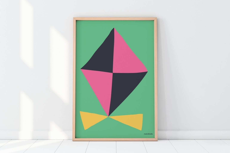 Mamahoela poster kite floor vertical