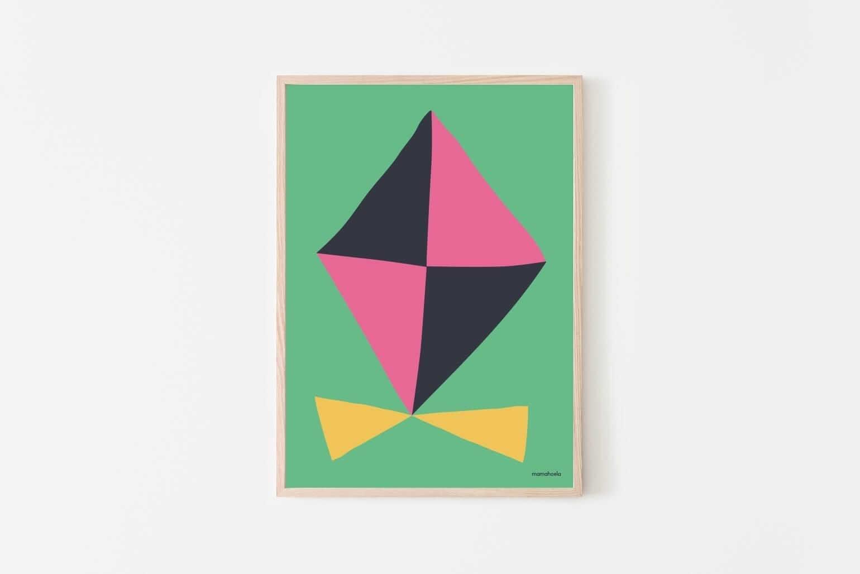 Mamahoela poster kite hanging vertical