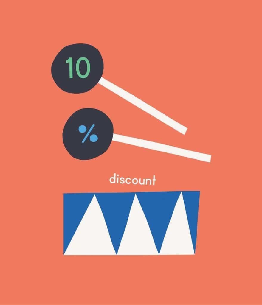 10% discount drum