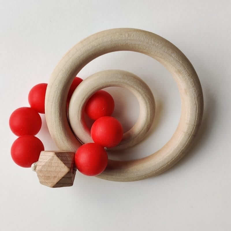 Mamahoela Teething Ring DIY Kit Red 1