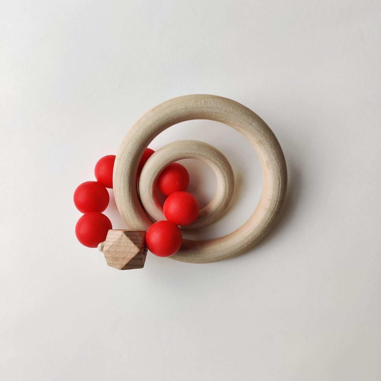 Mamahoela Teething Ring DIY Kit Red 2