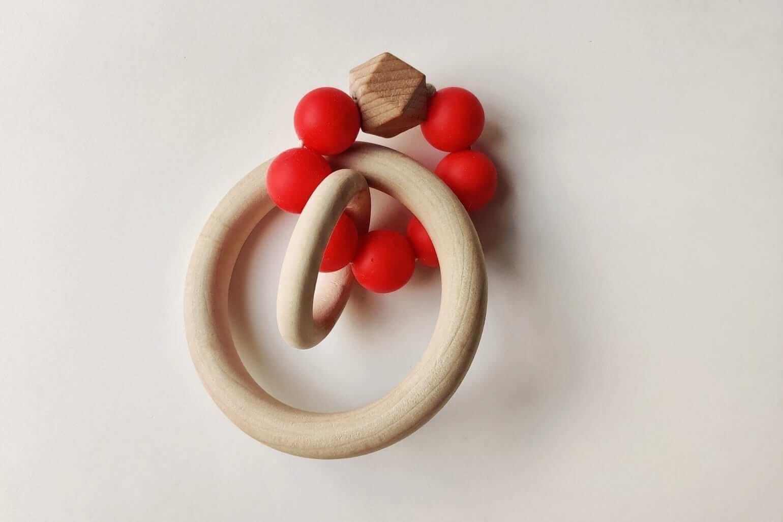 Mamahoela Teething Ring DIY Kit Red 3