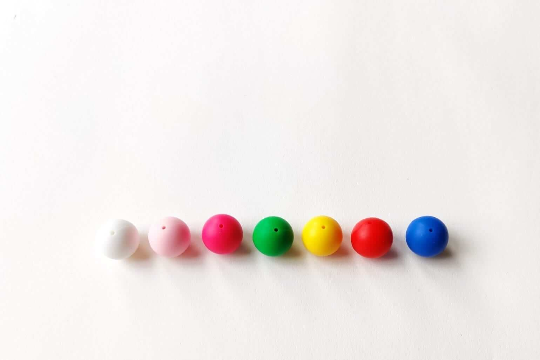 Mamahoela Teething Ring DIY Kit Bead colours