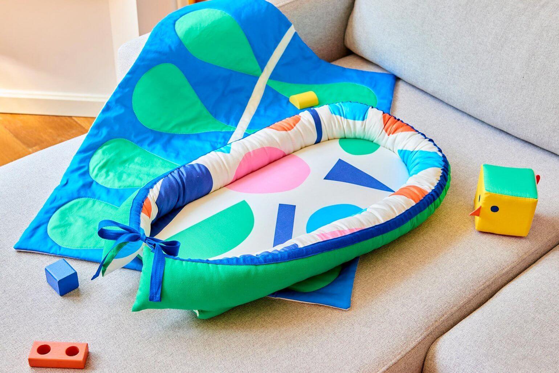 Baby cocoon blanket sewing DIY kit interior Mamahoela