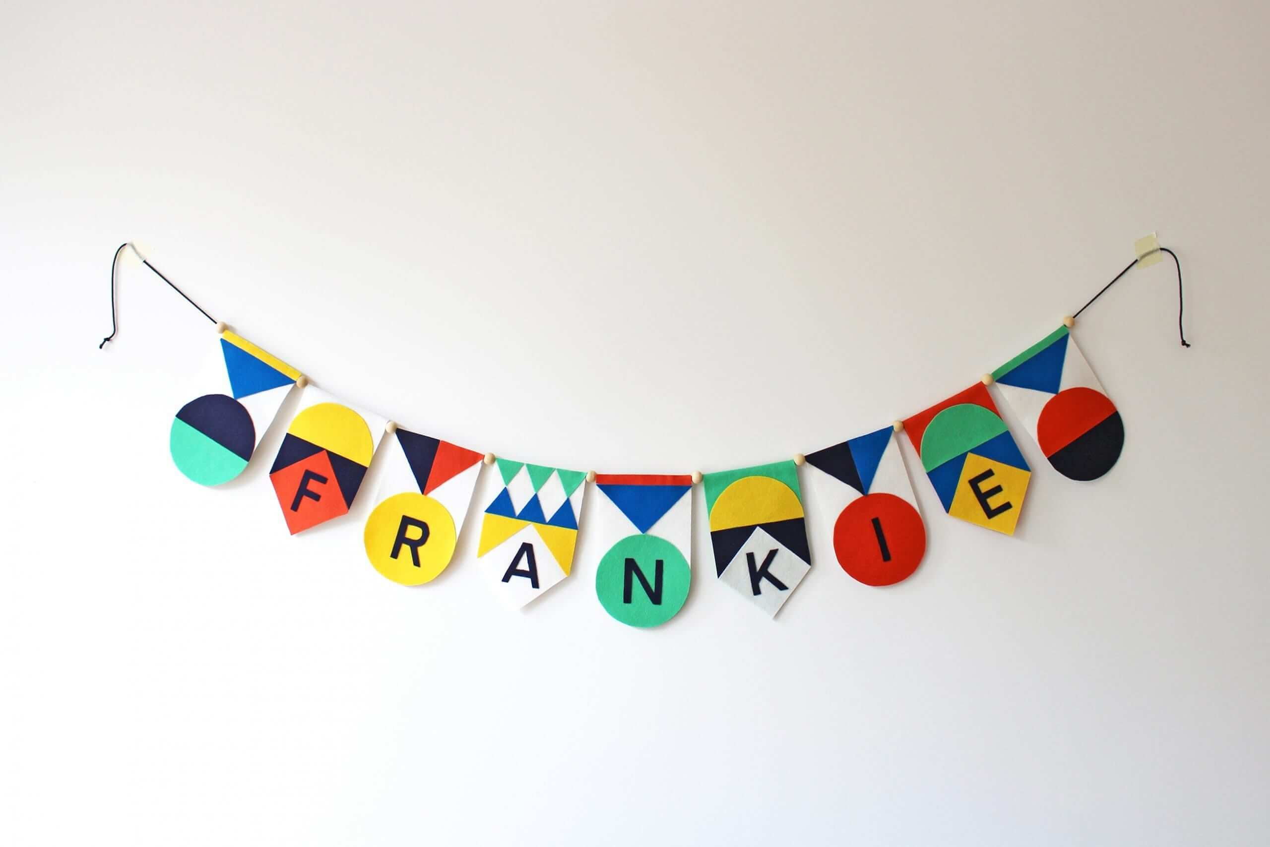 Felt Name Garland Diy Kit