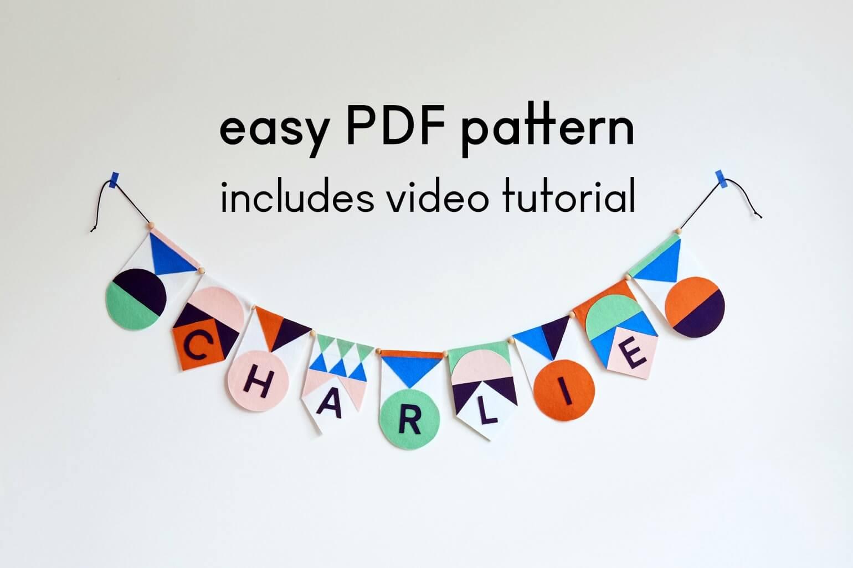 PDF PATTERN Name garland kit Mamahoela