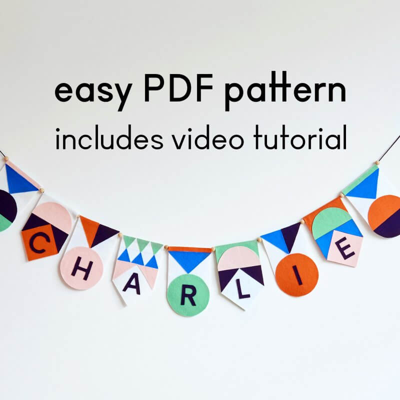 PDF PATTERN Name garland kit Mamahoela